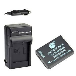 DSTE® DMW-BCG10E Battery + DC57 Travel and Car Charger Adapter for Panasonic Lumix DMC-ZS10 ZS15 ZS19 ZS20 ZS25 ZX3 TZ8 TZ10 TZ18 TZ19 TZ20 TZ25 ZR1 ZR3 Camera