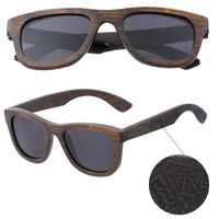 AW563 New 2018 Retro Style Tribe Brown Bamboo Polarized Sunglasses