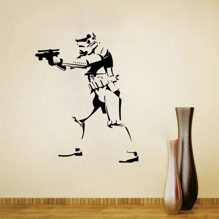 star wars wall stickers home decor living room diy art mural decals removable pvc wall sticker. Black Bedroom Furniture Sets. Home Design Ideas