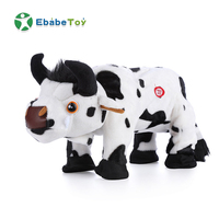New Brazilian Electric Walking Singing Plush Cow Stuffed Animals Kids Toy Electric Stuffed Music Bull