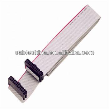 Ul2651 28awg Idc 20-pin Connector Female Rainbow Color Flat Ribbon ...