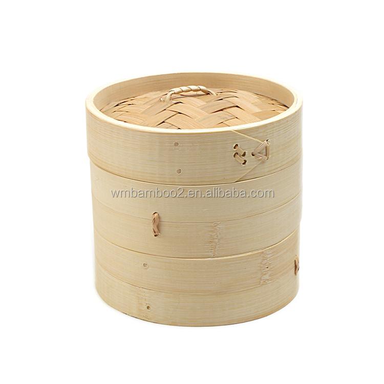 100% natural bamboo steamer