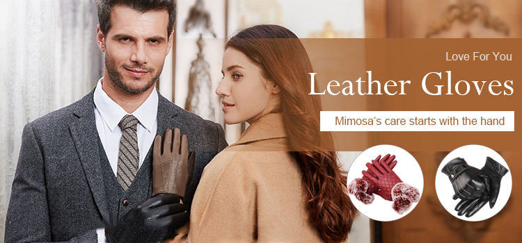 Wholesale OEM fashion motorcycle driving Winter keep Dress warm PU Leather touchscreen Gloves black leather mittens for men