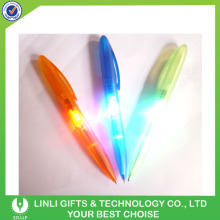Custom Promotion Shenzhen Provide Plastic Twist Lighting Pen;Light Up Pen