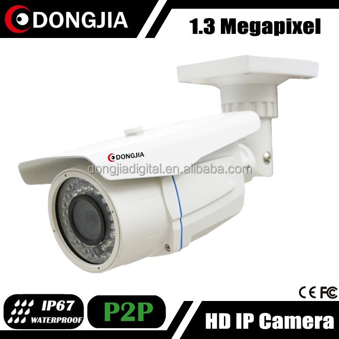 DONGJIA DJ-IPC-HD6120HRV-POE waterproof bullet network poe outdoor 960p full hd ipcameras