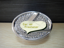 Promotion Custom cheap aroma perfume hanging paper car air freshener