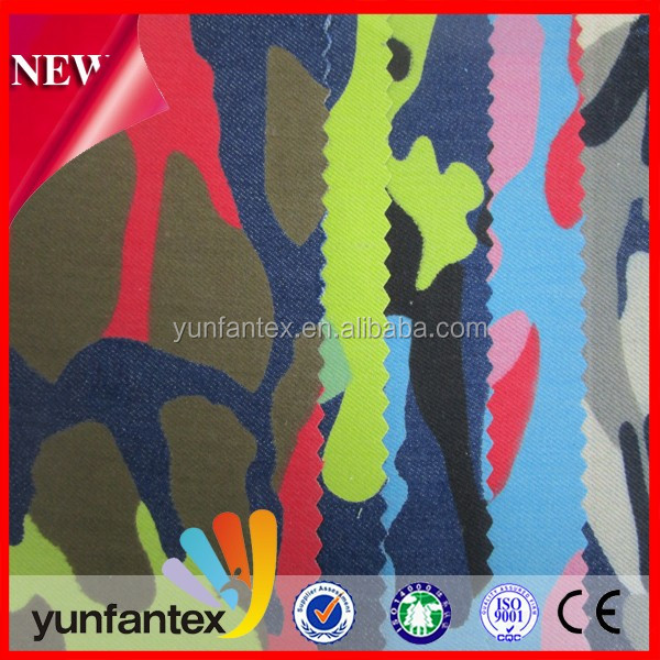 2018 wholesale discount camouflage twill new cotton printed fabirc