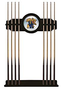 NCAA Pool Cue Rack by Holland Bar Stool, Black - University of Kentucky, Cat