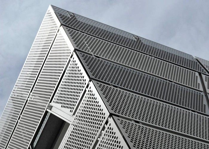Perforated Metal Facade For Architectural Decorative Metal