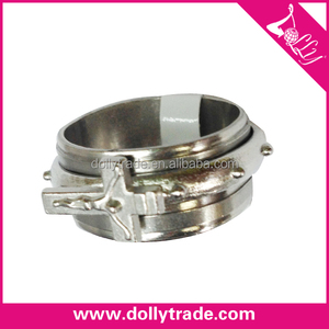 Fashion stainless steel jewelry rotating ring with cross design