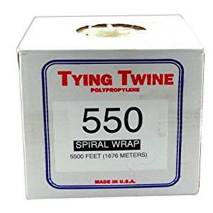 5500' Tying Twine Polypropylene 550 Spiral Wrap