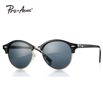 Pro Acme Classic Mens Semi Rimless Sunglasses with Clear Lens PA0481R