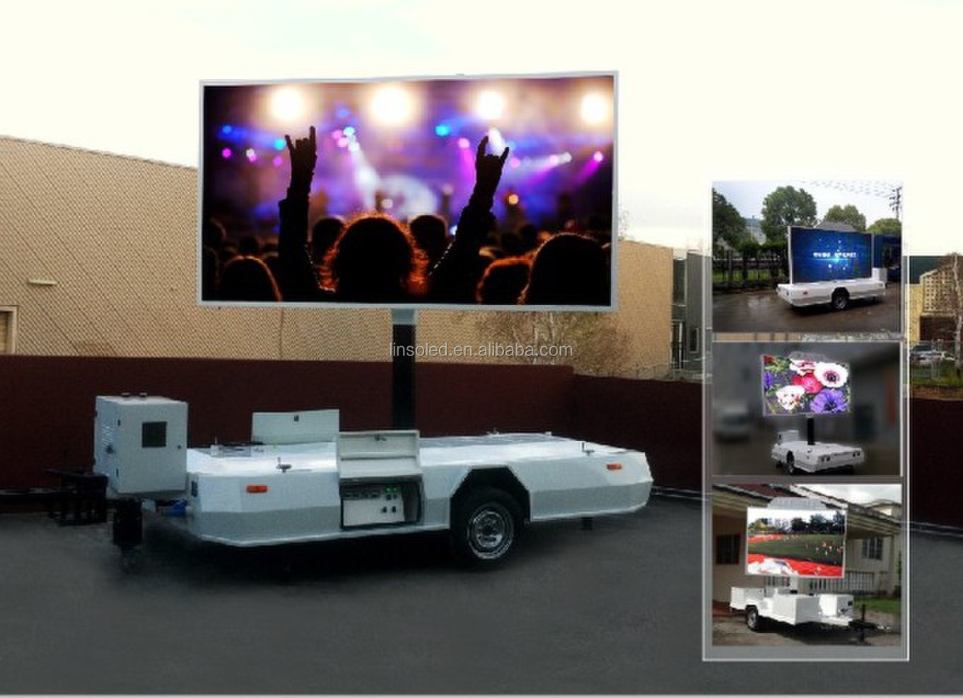 Outdoor Led Screen Trailers Advertising Display Trailer