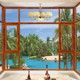 HS-JY8008 insulated aluminum large glass windows