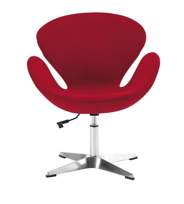 Loisirs Demi Roues Buy tissu Rouge Sans Bureau Pivotant Swan Bureau Wa612 Réception D'attente De Chaise Fauteuil Ronde Pour hrBdsxtQC