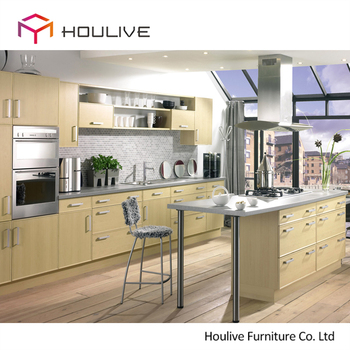 2018 Wooden Feeling Melamine Kitchen Cabinet Affordable Price New