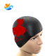 wholesale custom funny printing swimming cap with a Chinese design sports cap silicone cap hat