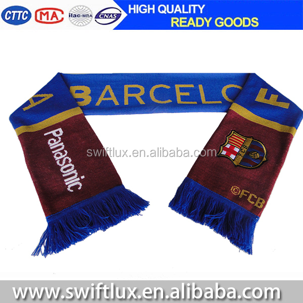 Professional Manufacturer Wholesale cheap acrylic soccer scarf