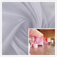wholesasle cheap snow organza recycable wedding decoration