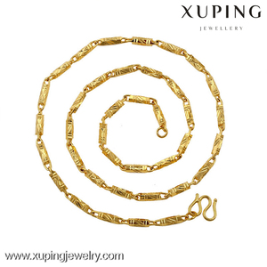 xuping the latest fashion of the most popular 24 k gold new model man necklace, cheap wholesale chain