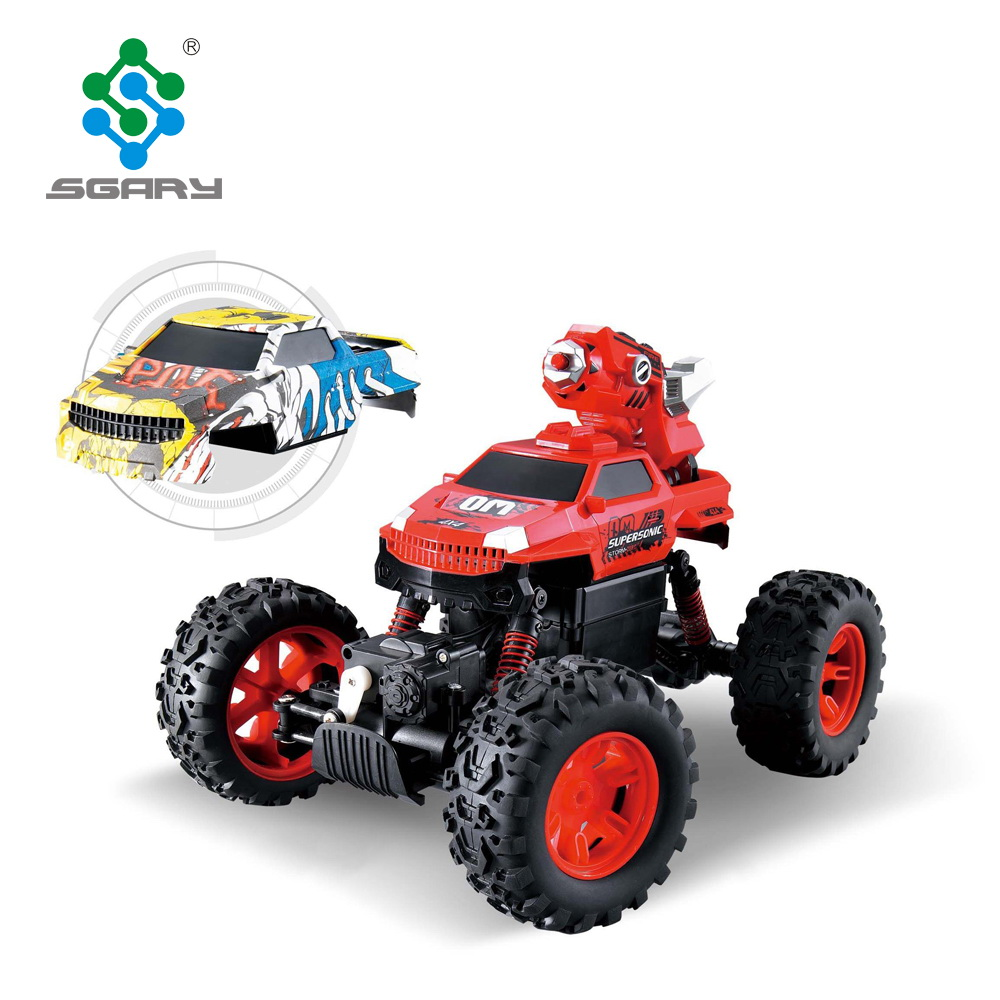 2 in 1 multi-functional 2.4G rc rock crawler with shooting water function