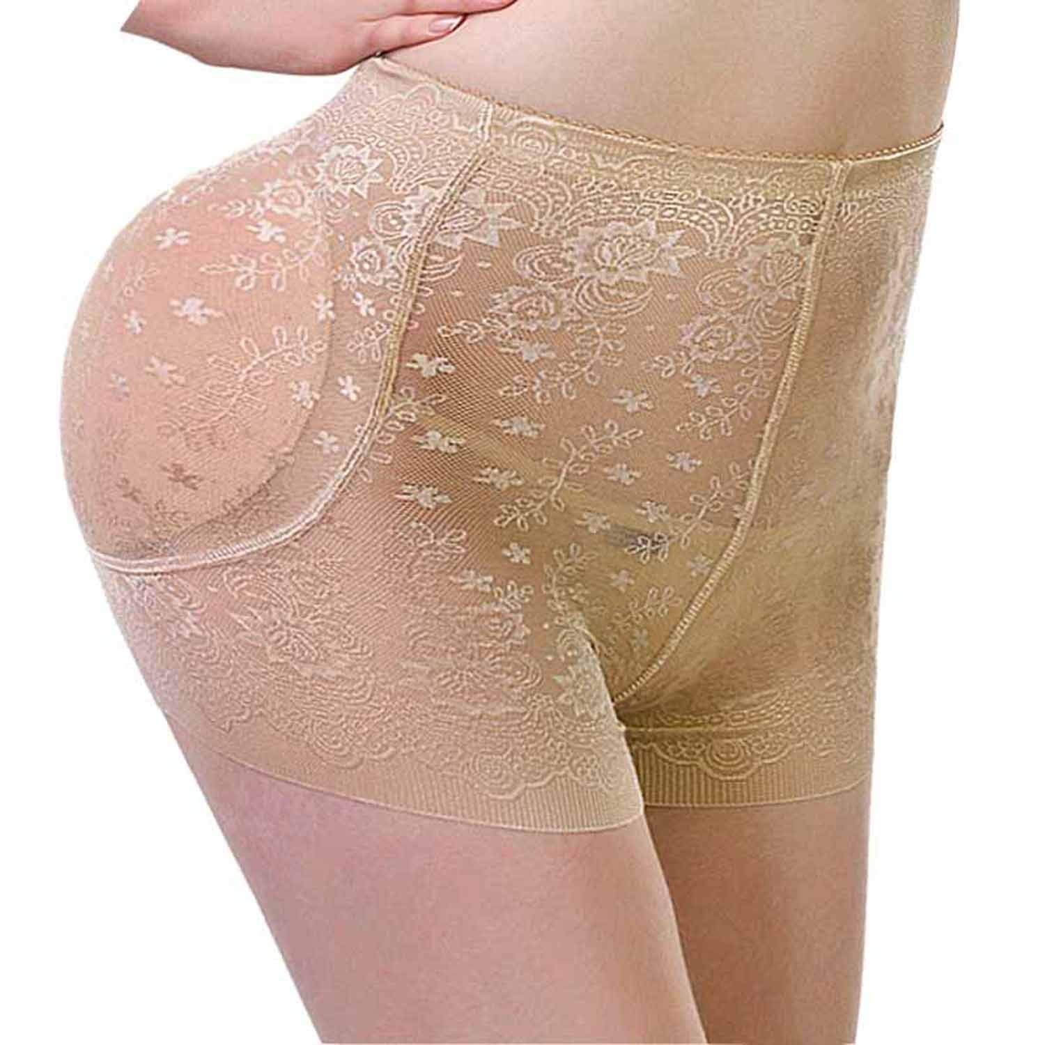 1b964094813 Get Quotations · Hip Enhancer Butt Lifter Padded Panty Removable Pads  Boyshorts Underwear