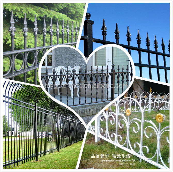 Yishujia Factory Solid Metal Security Fence Panelswrought Iron