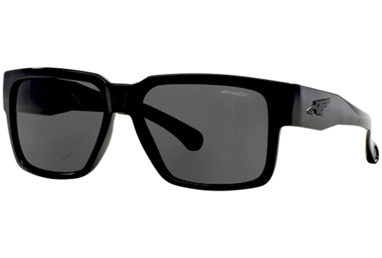 98f57900cd976 Get Quotations · Arnette Supplier Unisex Sunglasses - 41 87 Gloss Black Grey