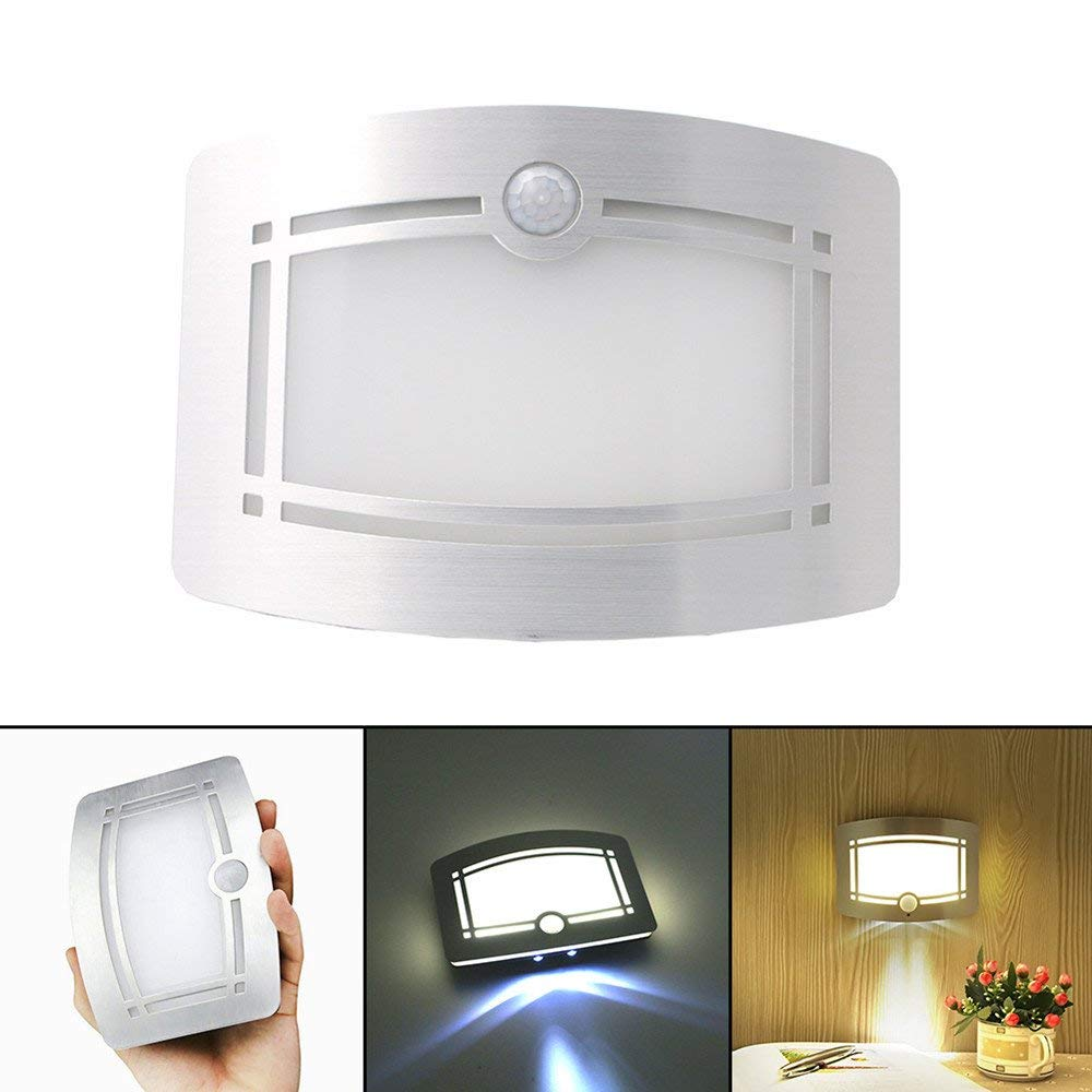 Sammid LED Wall Light, Wireless Motion Sensor LED Night Light,for Kids Bed Cabinet Aisle Toilet Lighting