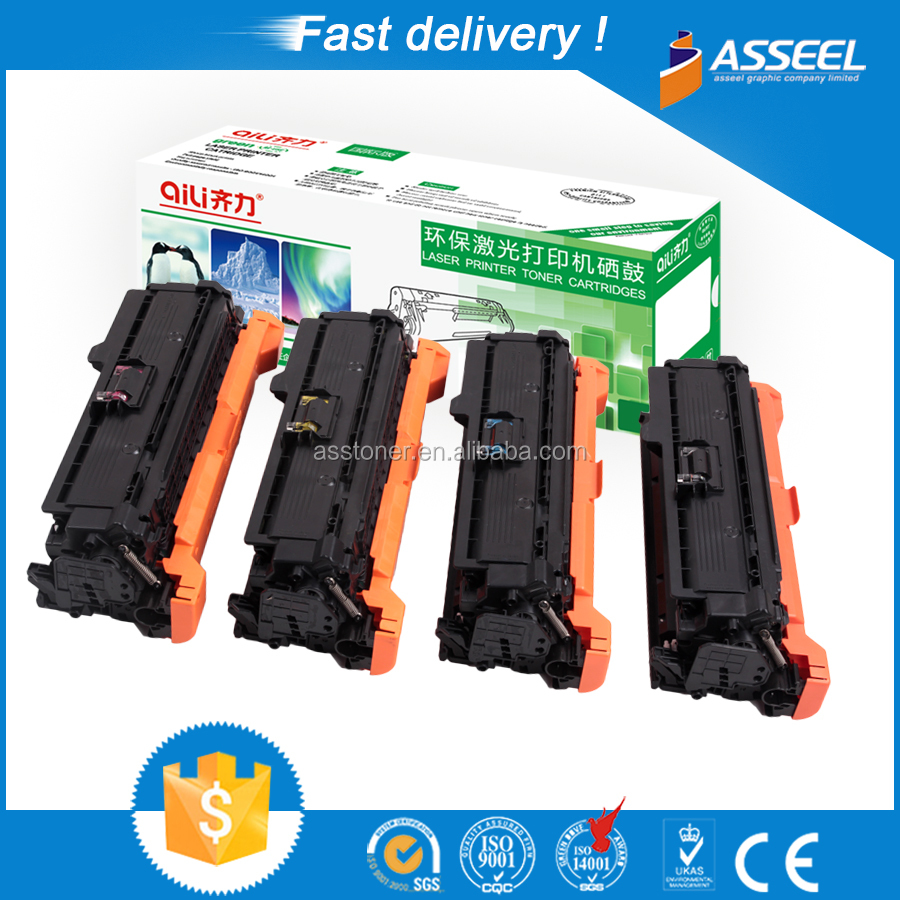 Compatible CE250A color toner cartridge from factory directly sale with premium quality