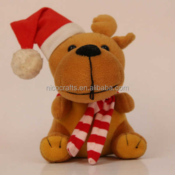 custom plush christmas Bear shaped toy for gift