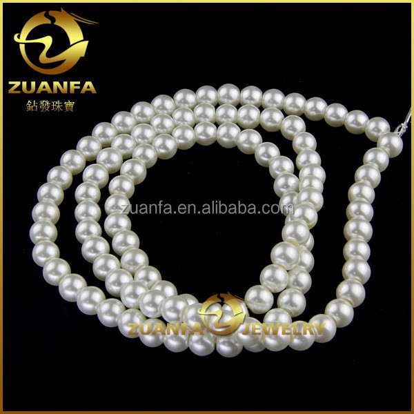 good quality 30mm round pearl necklace beads loose imitation pearl