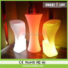 glow bar desk/led bar glass top/illuminated led bar table