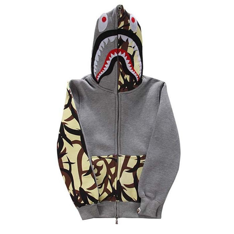 Buy Harajuku street fashion brand bape Camouflage swag style Men Women  hoody hoodies Zip sweatshirt camo printed bape shark hoodie in Cheap Price  on ... b1e5aba3f