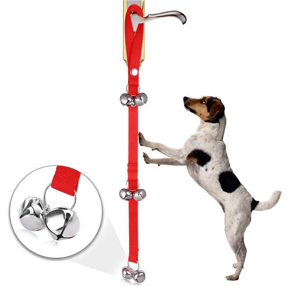 NACOCO Dog Doorbell Potty Bells Housetraining Dog Training Housebreaking Adjustable Nylon Doggie Puppy Doorbells