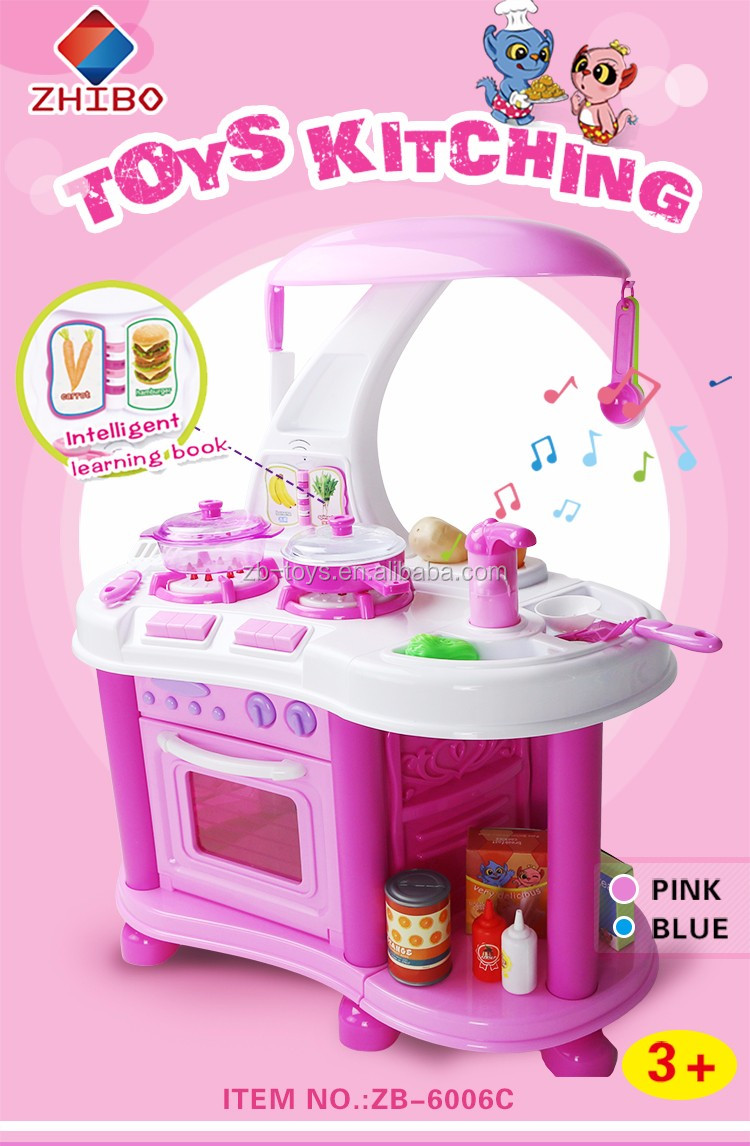 High Quality Zhibo Children Pretend Play Kitchen Set Buy Play