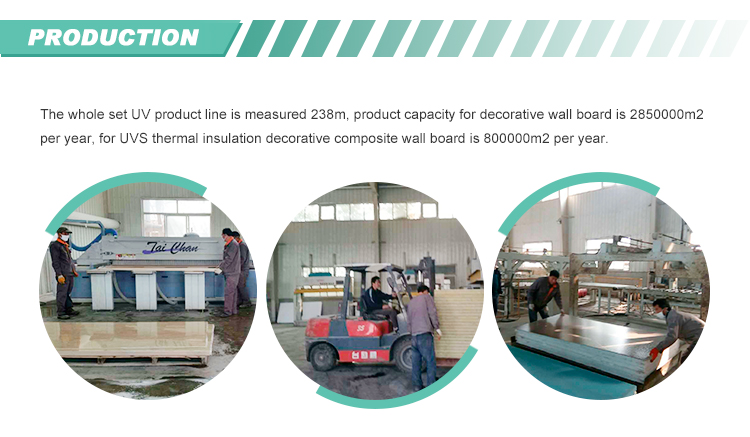 production line of Decorative Wall Panels for Outside Decoration