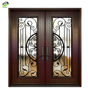 new designs Powder coating cast wrought iron door