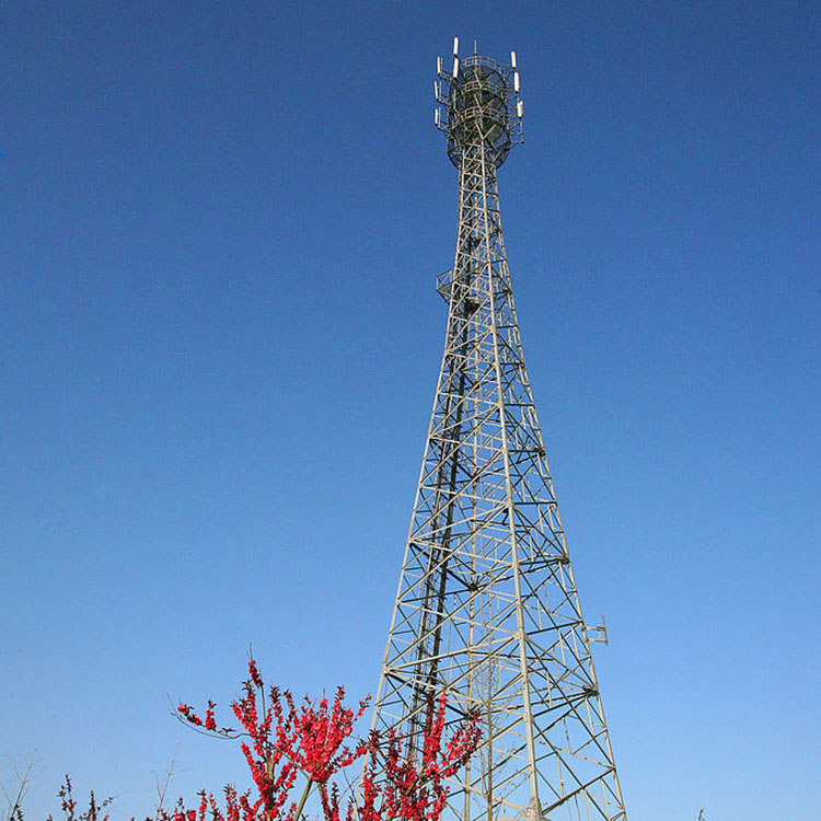 galvanized self supporting telecom tower angular lattice tower antenna GSM tower