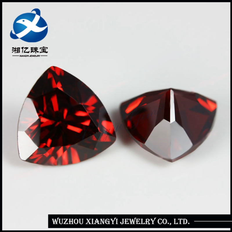 Price of a garnet stone 10x10mm fat triangle trillion cut Cubic Zirconia CZ