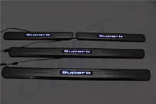 Car LED Door Sill Plate,Scuff Plate for Skoda Superd