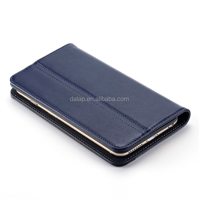 oem customized factory for iphone 6 case, flip design genuine leather case for iphone 6