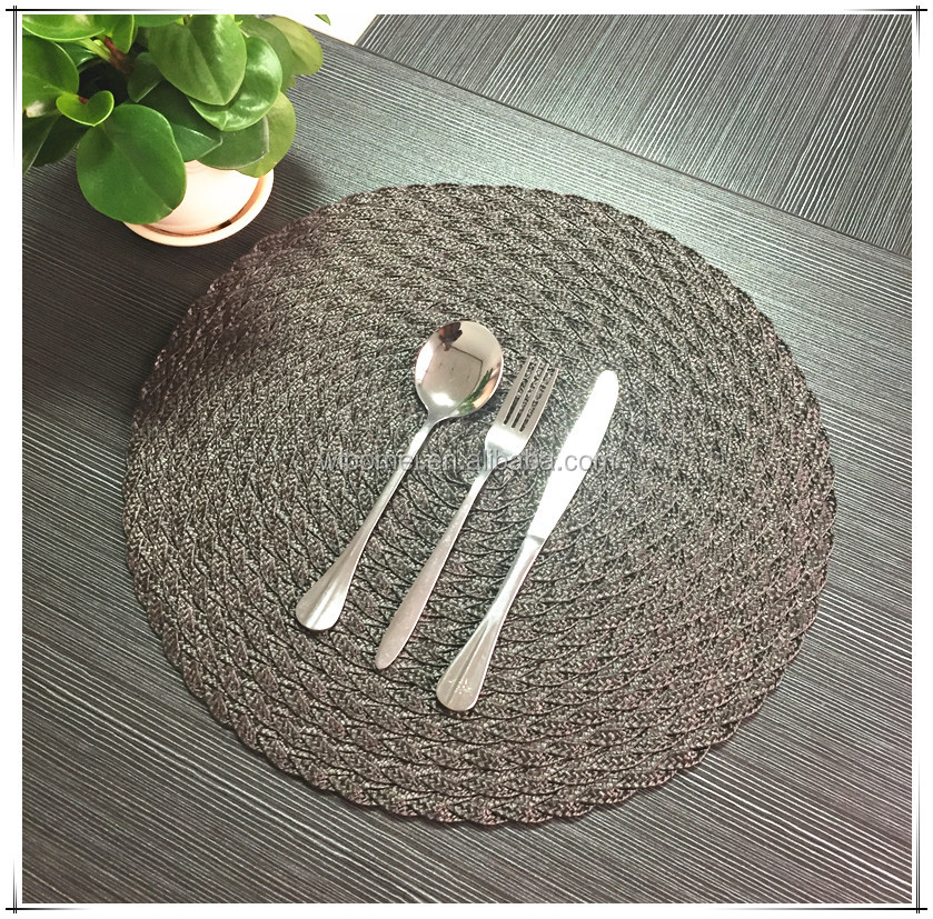 Best Selling PP plastic round blank placemat for hotel, home dining room