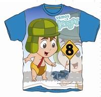 Cartoon baby clothes short sleevs silk screen print wholesale baby t-shirt