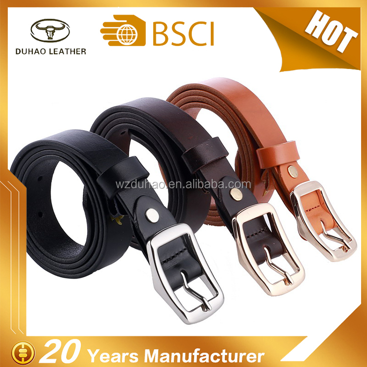 Cowhide leather belt genuine leather belt real leather pin buckle for woman