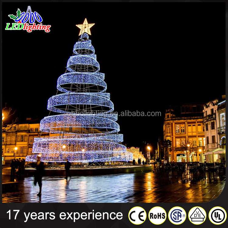 OBBO lighting outdoor decoration tree Xmas tree ribbon christmas tree