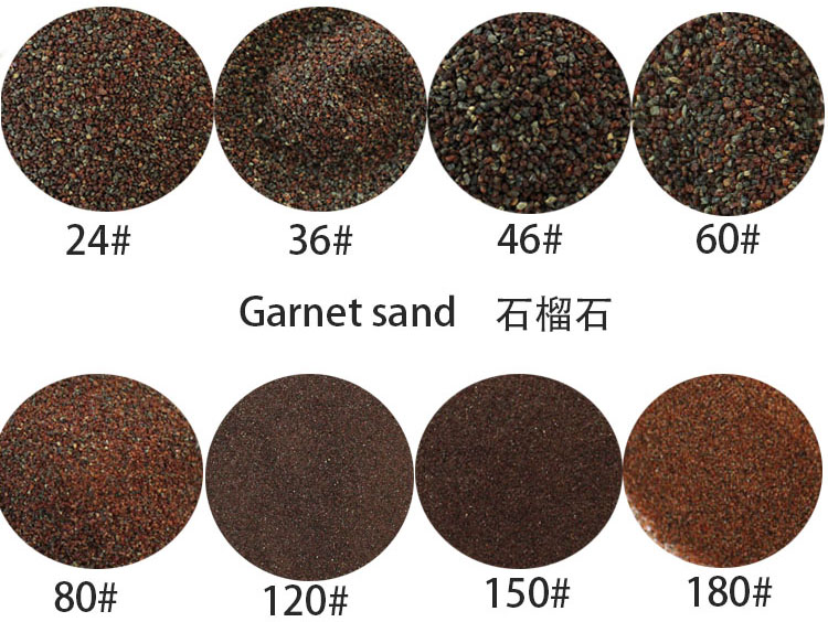 china supply Jade Sand green garnet for sandblasting coating