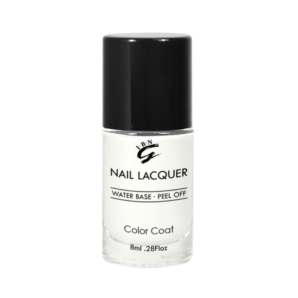 clear nail polish lacquer custom made bottle water based peel off nail polish