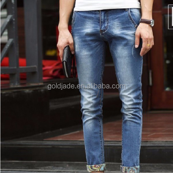 High Quality Men Latest Design Denim Cropped Jeans Pants,2015 ...