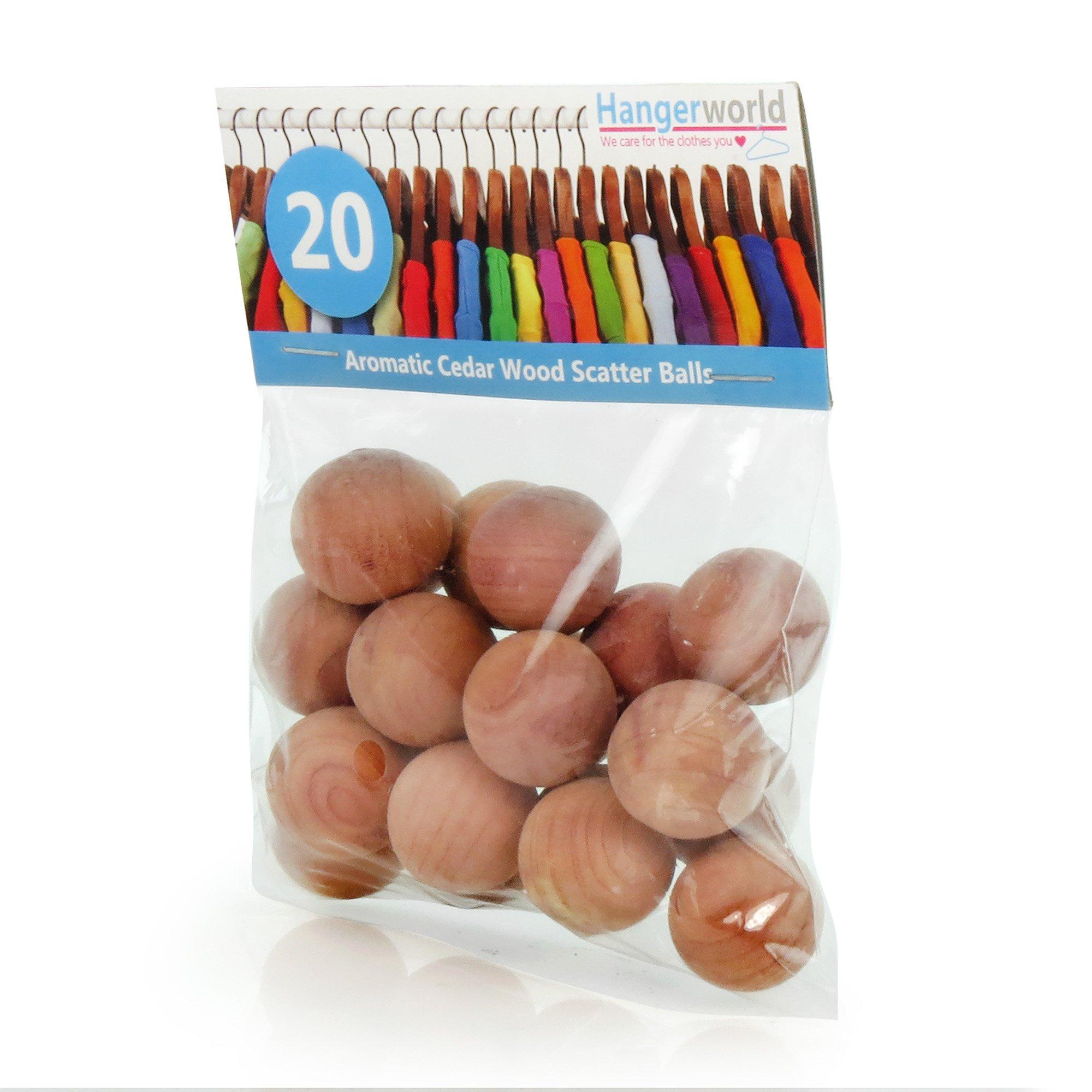 Hangerworld Pack Of 20 Cedar Wood Balls   Natural Moth Repellent For  Drawers, Storage Boxes
